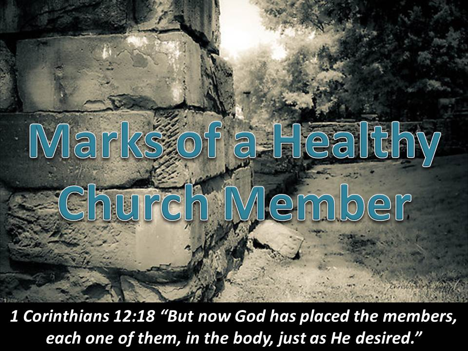 Marks of a Healthy Church Member